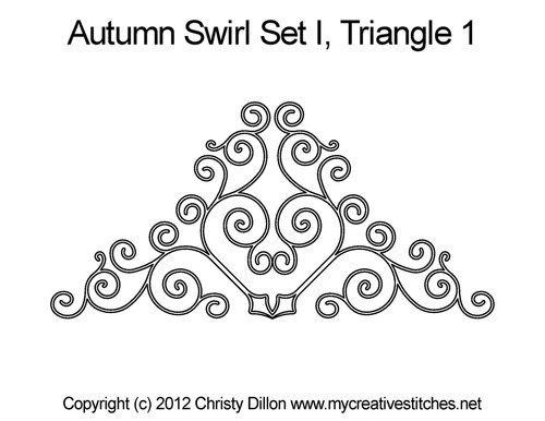 Autumn swirl triangle 1 quilting pattern