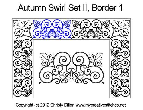 Autumn swirl border 1 quilting design