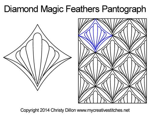 Diamond magic feathers digital pantograph