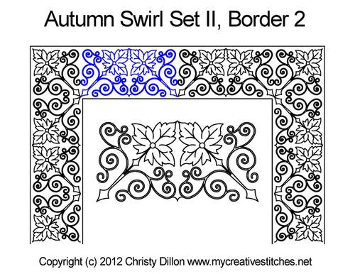 Autumn swirl border 2 quilting design