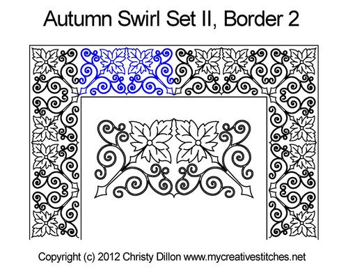 Autumn swirl border 2 quilting design