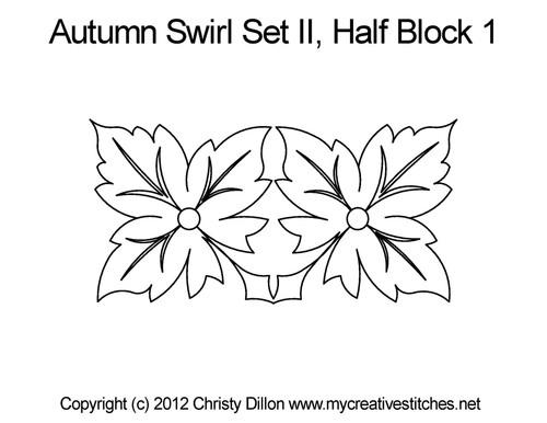 Autumn swirl set half block 1 quilt patterns