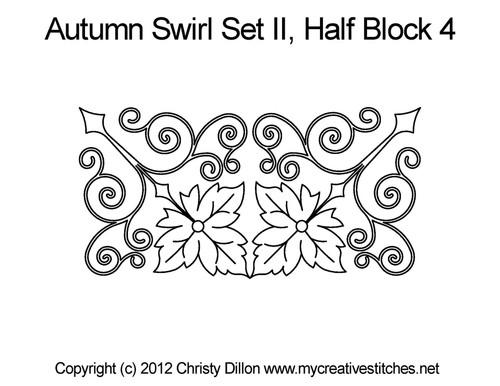 Autumn swirl set half block 4 quilt patterns