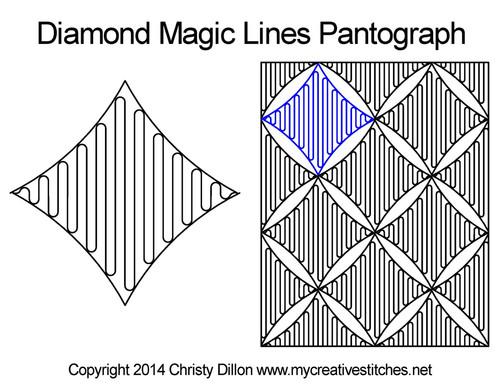 Diamond magic lines pantograph designs