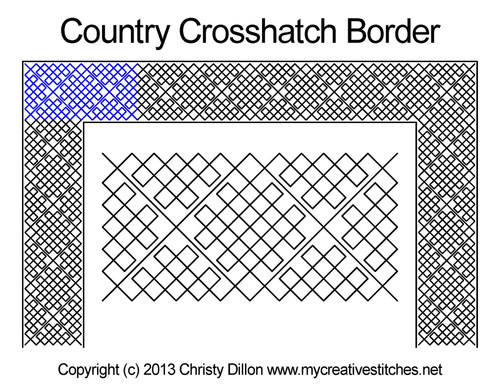 Country crosshatch border quilt design