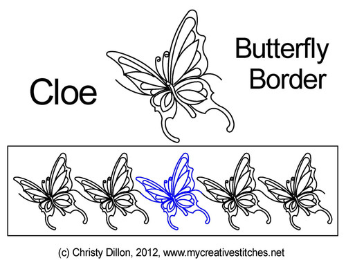 Cloe Butterfly border quilting designs