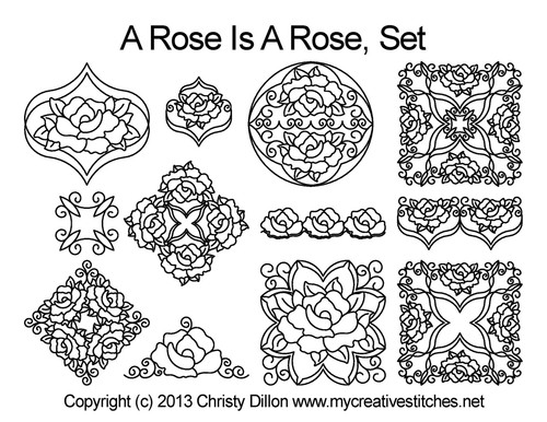 A Rose is Rose computerized quilting designs