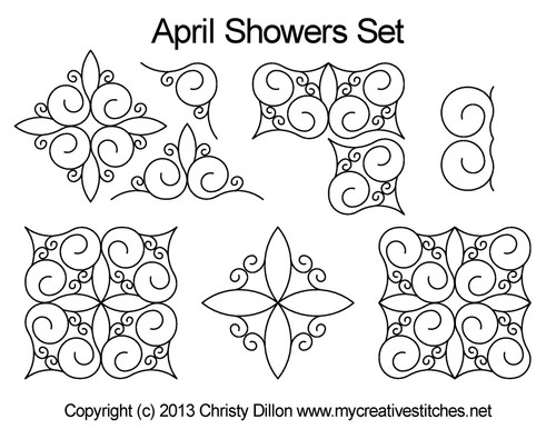 April showers computerized quilt designs