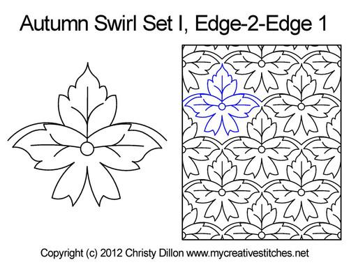 Autumn swirl edge to edge 1 quilting ideas