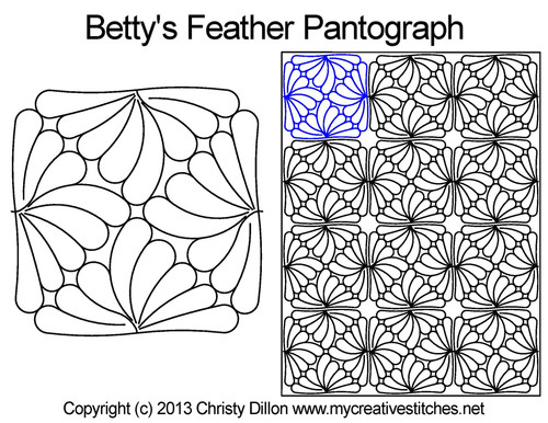 Betty feather digital pantograph