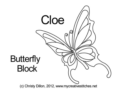 Butterfly quilting designs for blocks