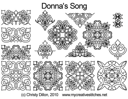 Donna's Song quilting patterns free set