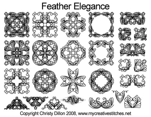 Feather elegance digital quilting designs