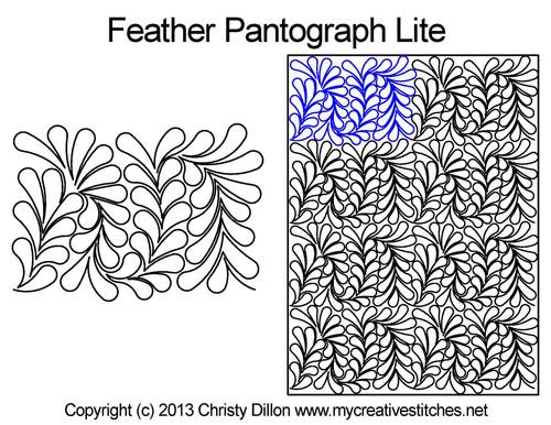 Feather Pantograph Lite quilt pattern