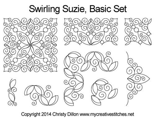 swirling suzie basic set quilt patterns