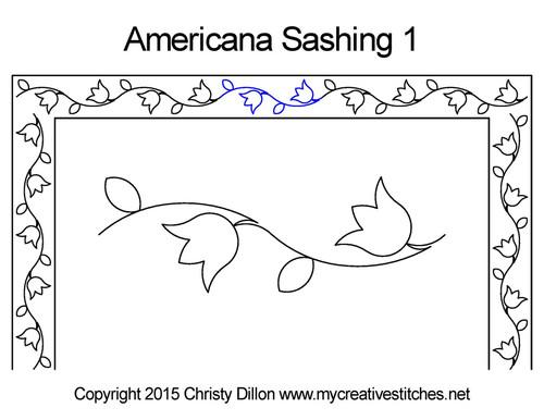 Americana sashing 1 quilt pattern