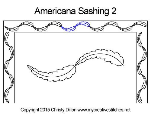 Americana sashing 2 quilting pattern