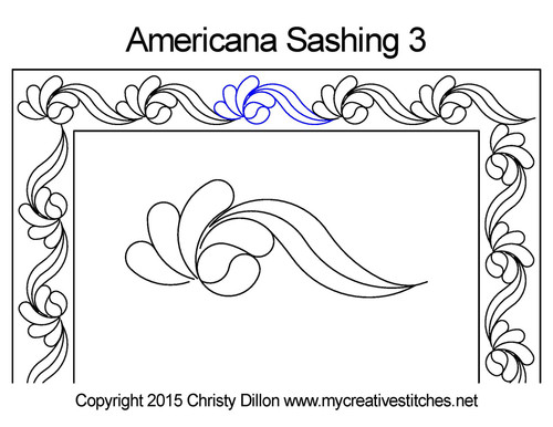 Americana sashing 3 quilting pattern