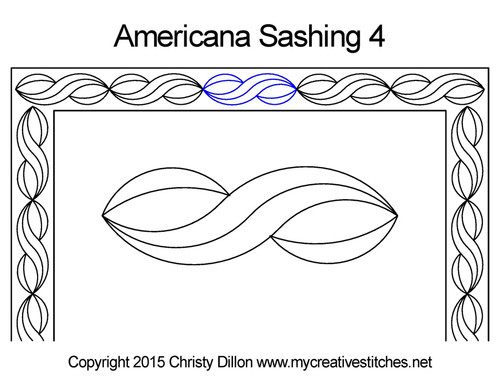 Americana computerized sashing 4 quilt pattern