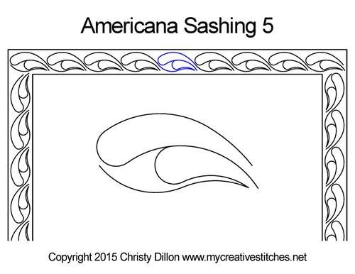 Americana sashing 5 quilting pattern