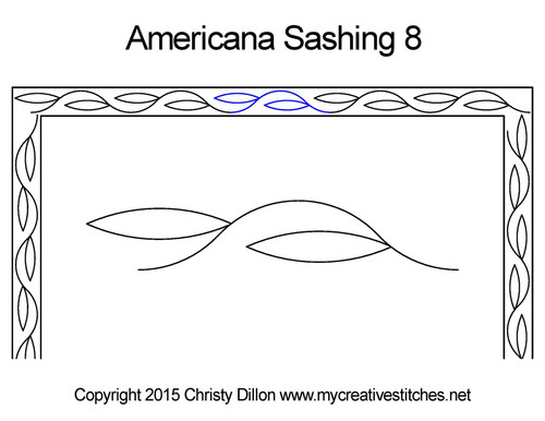 Americana sashing 8 quilting pattern