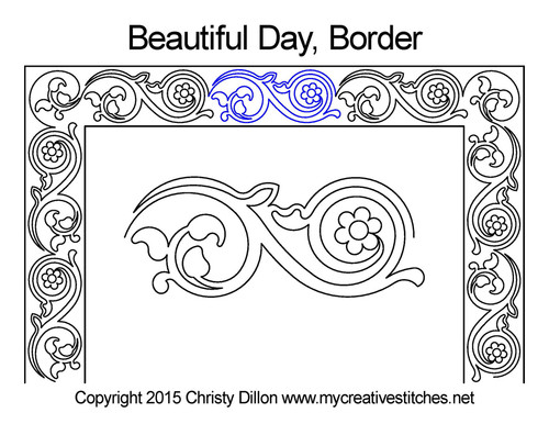 Beautiful day border quilting design