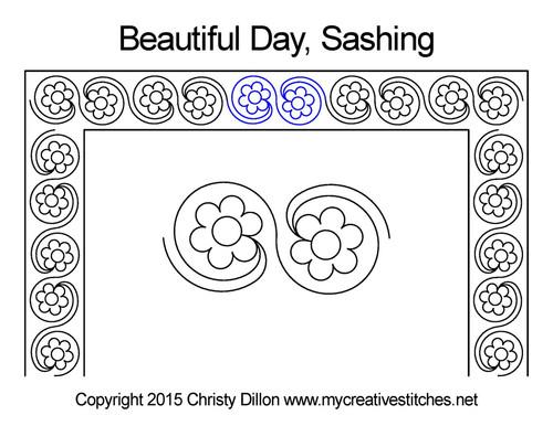 Beautiful day sashing quilt pattern