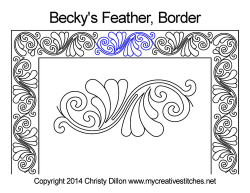 Becky's feather border quilt pattern