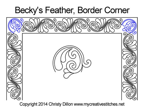 Becky's feather border & corner quilt pattern
