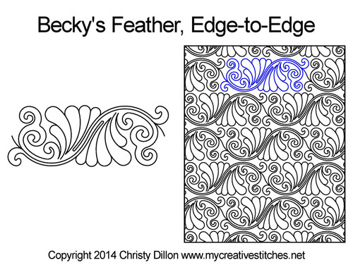 Becky feather edge to edge quilt pattern