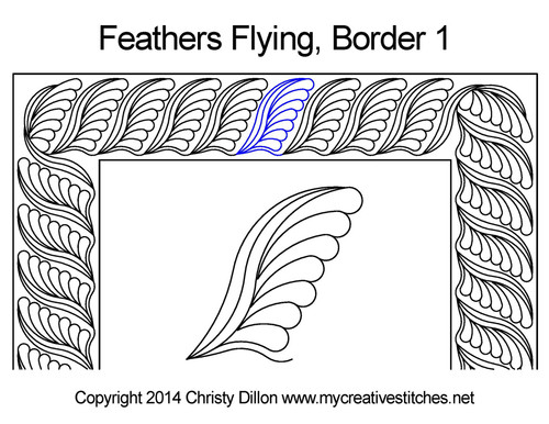 Paisley Feather Flying Quilting