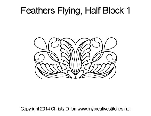 Feather half square triangle quilt blocks
