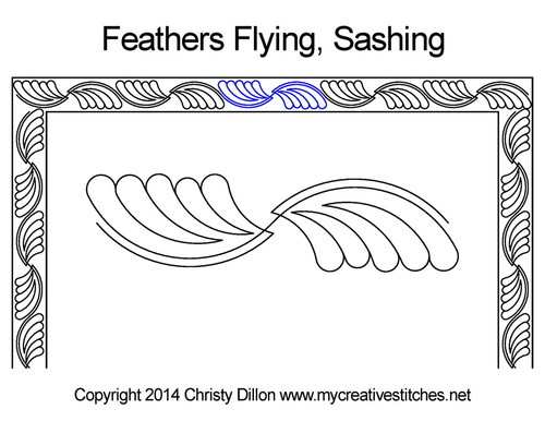 Feather flying quilt Border Sashing Patterns