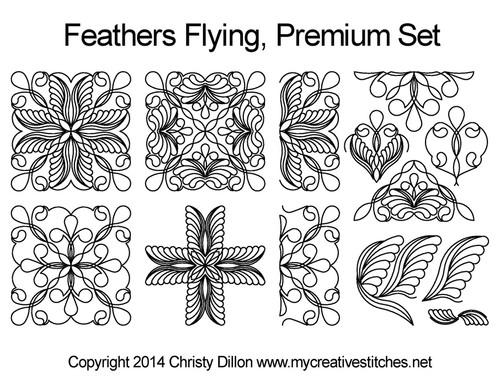 feather flying quilt premium set block patterns