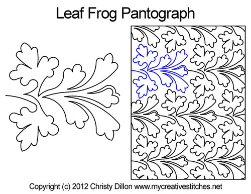 Leaf frog pantographs quilting