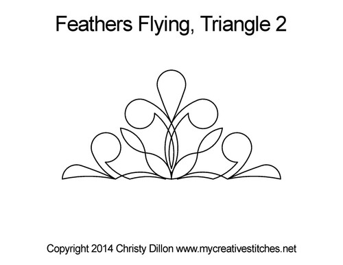feather flying cutting half square triangles