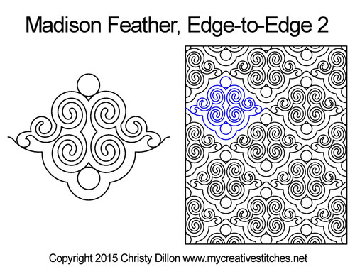 Madison feather edge-to-edge quilt pattern