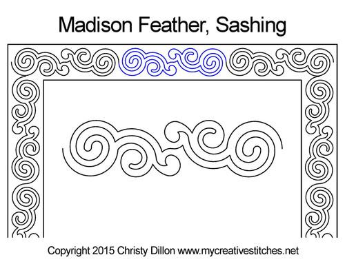 Madison feather sashing quilt design