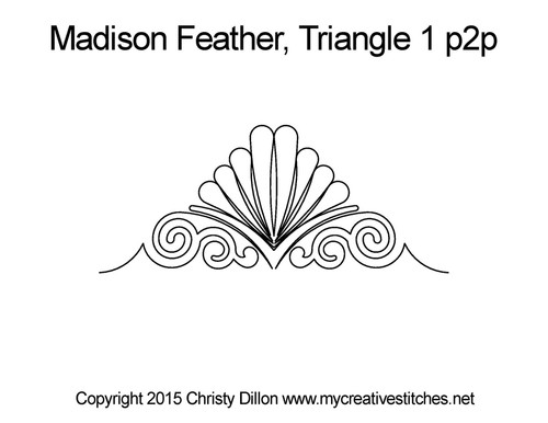 Madison feather triangle 1 p2p quilt pattern