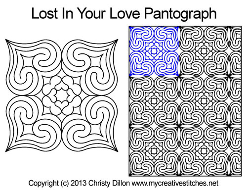 Lost in your love quilting pantographs patterns