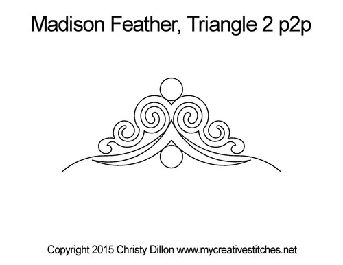 Madison feather triangle 2 p2p quilt pattern