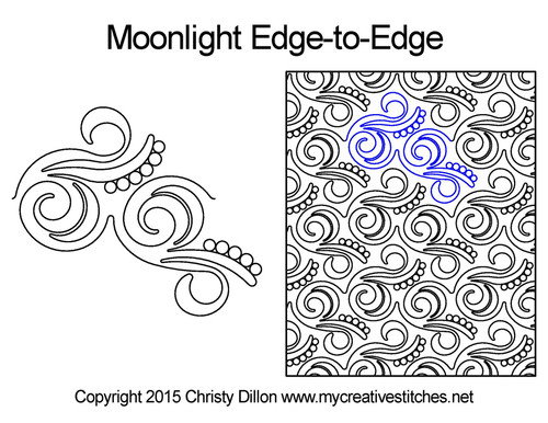 Moonlight edge to edge designs