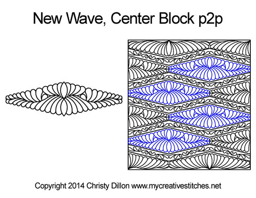 New wave center block p2p quilting ideas
