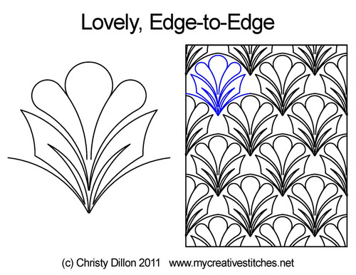 Lovely edge to edge quilt patterns