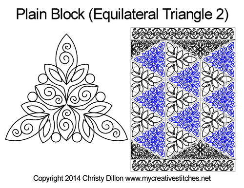 Pain block equilateral triangle 2 quilt design
