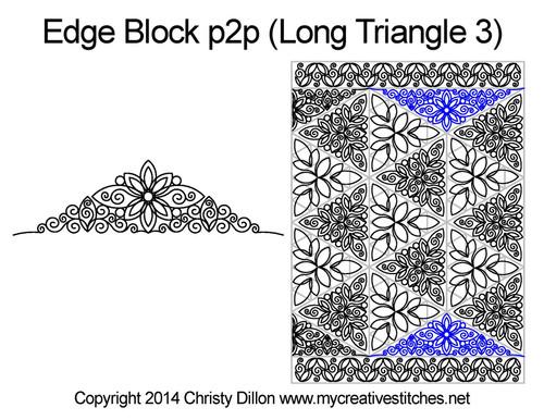 Edge digital block p2p triangle 3 quilting