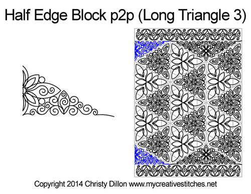 Half edge block 3 p2p quilting ideas