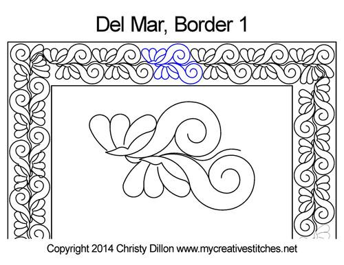 Del mar border 1 quilting design
