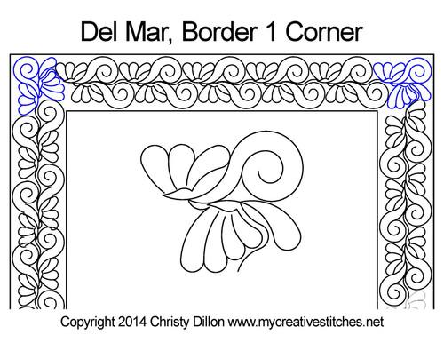Del mar border & corner 1 quilt design