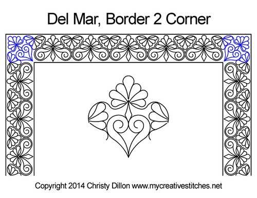 Del mar border & corner 2 quilt pattern